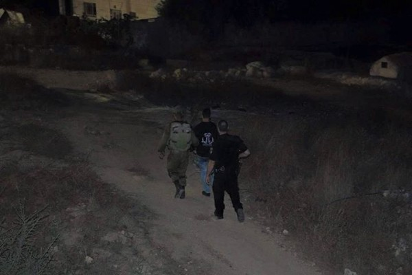 Palestinian youth arrested by Israeli forces on settler accusation Photo credit: Youth Against Settlement