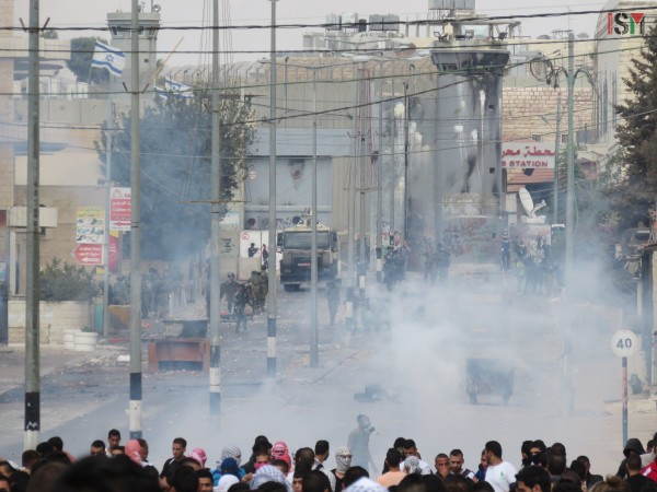 Tear-gas in Bethlehem