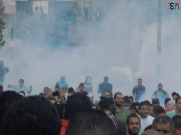 Palestinians were injured due to excessive tear-gas inhalation