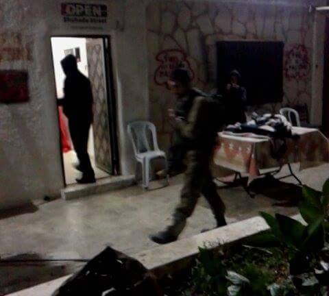 Israeli forces raiding the house of Youth Against Settlement Photo credit: Youth Against Settlement