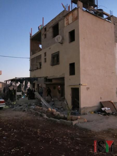 Three storage house with demolished first floor in Al Dahia, Nablus.