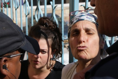 Settler Anat Cohen making fun of school-children denied passage on their way home