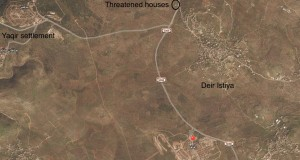 The 3 families are now the only Palestinians living on the west side of the road.