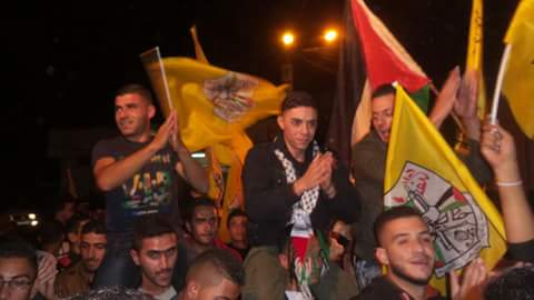 The people of Beit Lid waited for Ammar to celebrate in the streets of the village