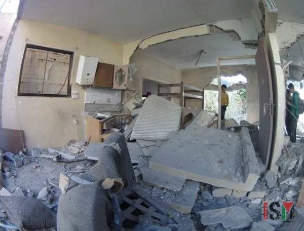 Demolished home of Kerem Lutfi Razek in Al Rawada College St, Nablus