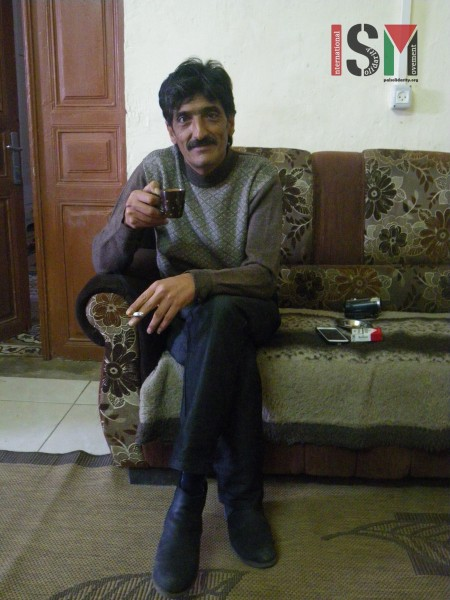 Imad Abu Shamsiyyeh in his house