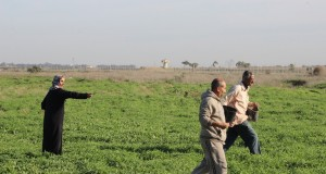 The farmers tried to access their land and start working