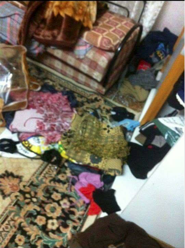 Ransacked home in the village of Tell, Nablus (photo credit: https://www.facebook.com/Tal.village.for.all/)