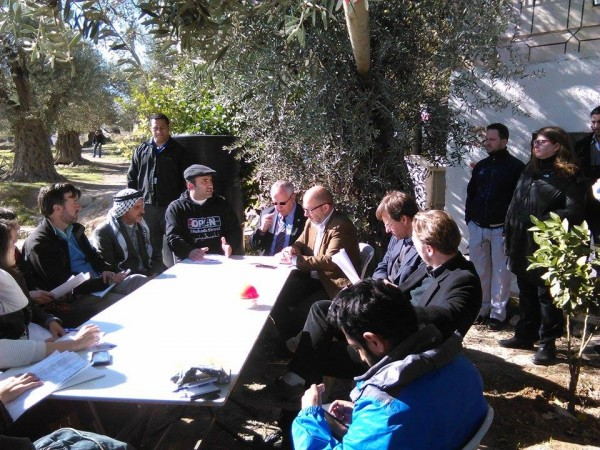 UN delegation in the Tel Rumeida neighbourhood of Hebron