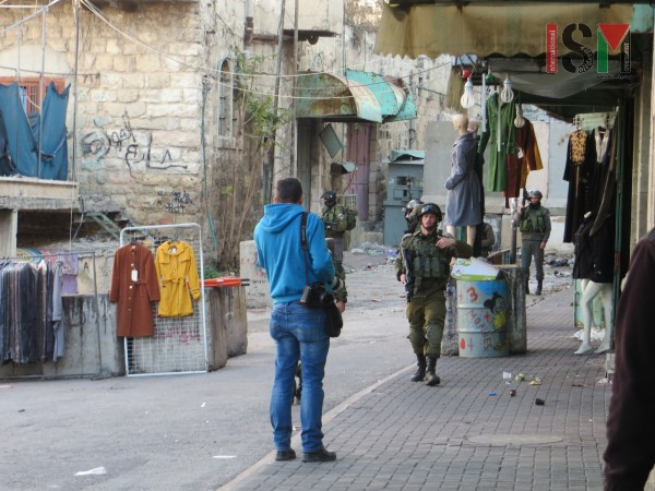 Israeli forces entered the market into the H1-area of Hebron