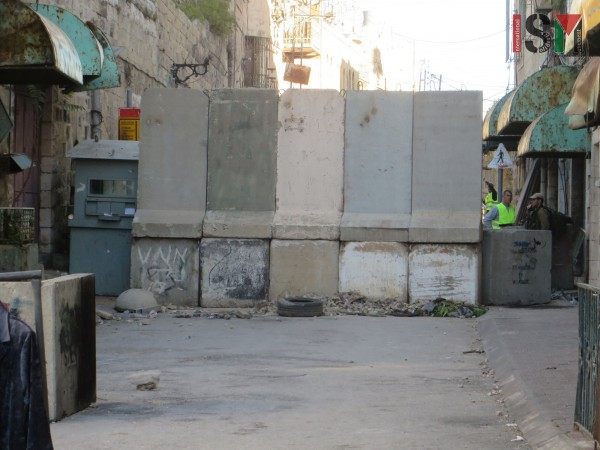 Recently closed and blocked off Shuhada checkpoint