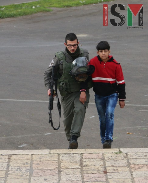 13-year old school-boy arrested by Israeli forces
