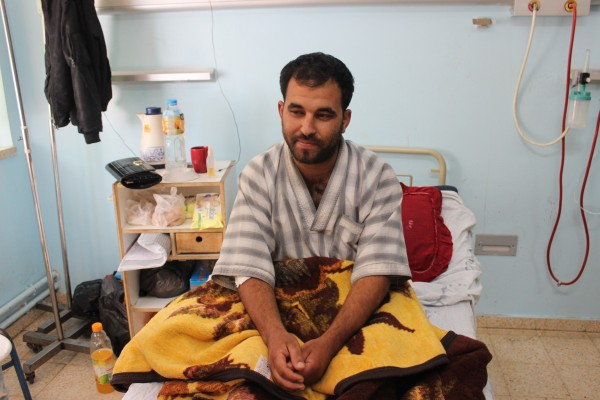 Mohamed Abu Taima, 29, had to undergo two surgeries