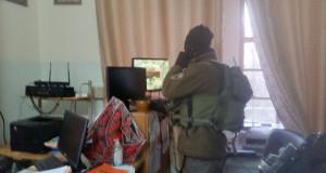 Israeli forces raiding Al-Faihaa girls' school