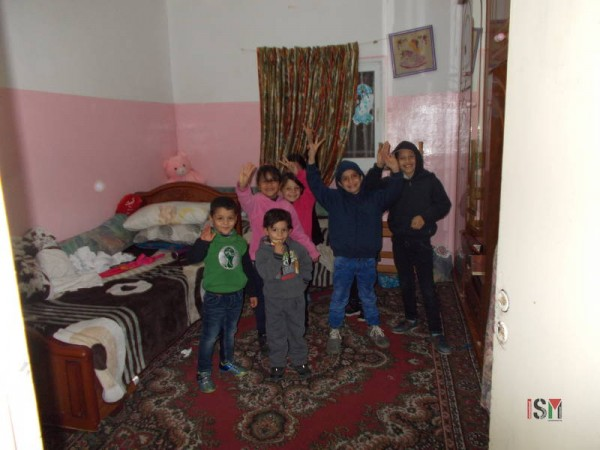 One of the bedrooms with the children.