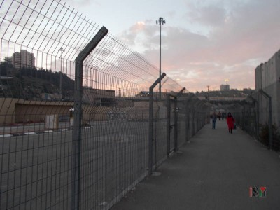 The way towards the Shuafat checkpoint