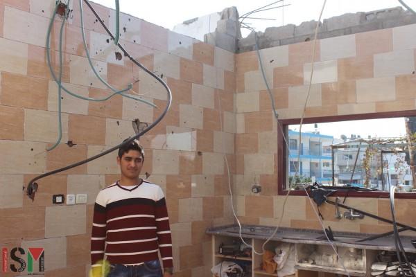 Jamil at his parents' home