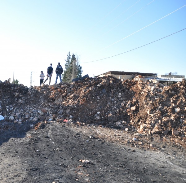 The reconstructed roadblock, in the village of Kufr qaddum. Photocredit:ISM
