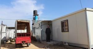 Heesham's caravan in Gaza