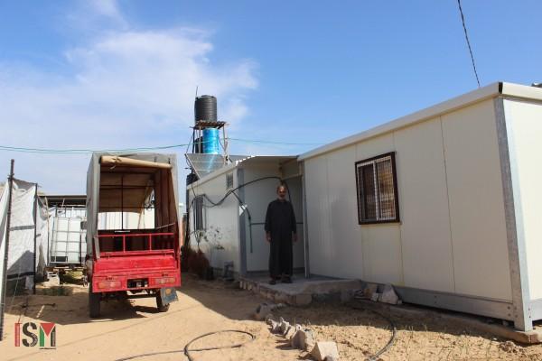 Heesham's caravan in Gaza wm
