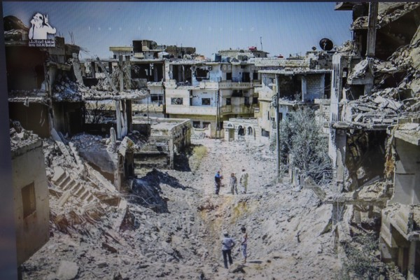 Heesham's neighborhood in Daraa