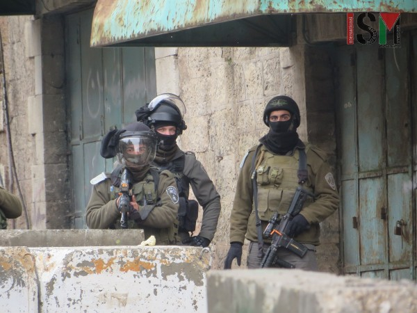 Israeli forces threatening the use of force against peaceful demonstration
