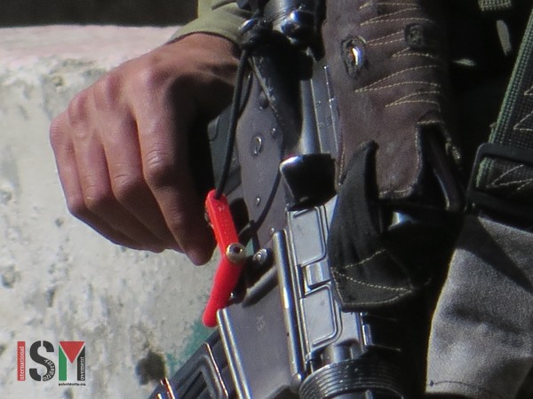 Safety-pin pulled out of the assault-rifle