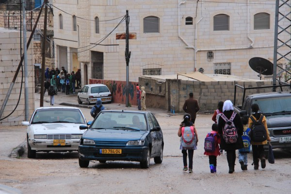 School children were the target of Israeli forces stun grenades