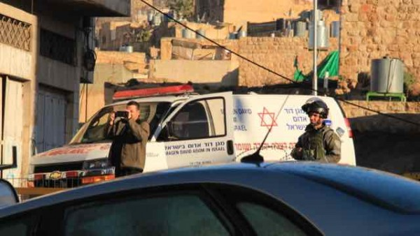 The notorious settler Ofer and his ambulance taking personal footage