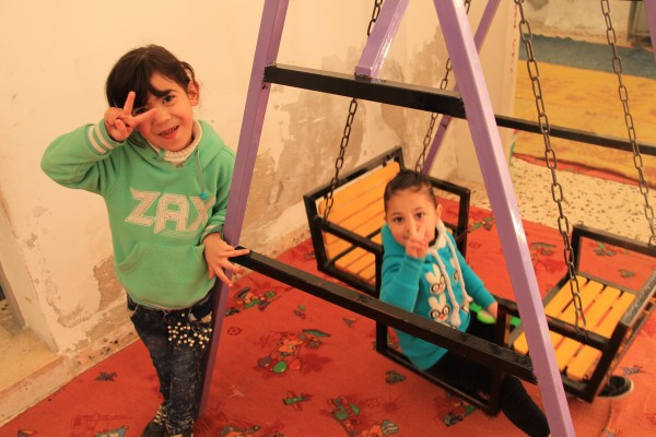 Palestinian kindergarteners full of love