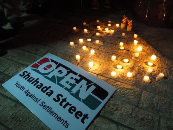 Candles lit in memory of those lost in the Ibrahimi Mosque massacre of '94