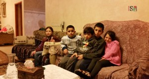 From left to right: 10 year old, Tala; 8 year old, Bader; 3 year old, Fajer; 12 year old, Adel; and 5 year old, Mira.