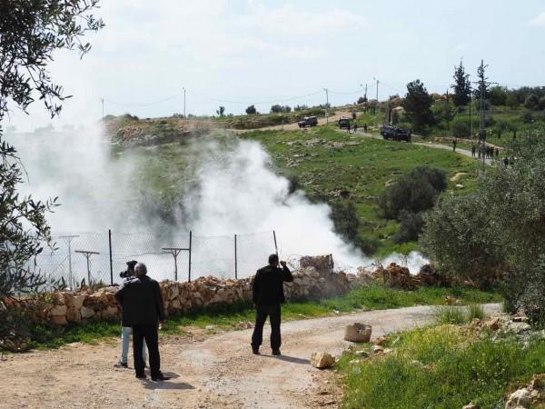 Heavy tear gas cloud