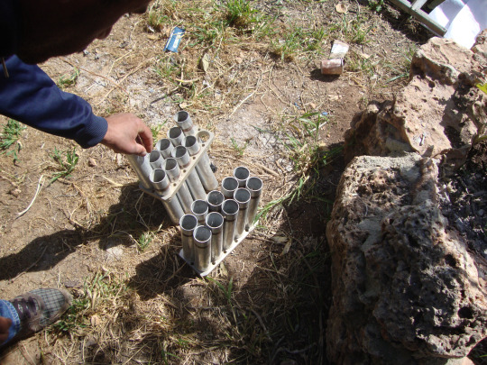 Used tear gas collected by locals after demonstrations
