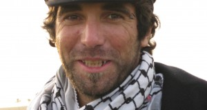 Vittorio wearing a keffiyeh