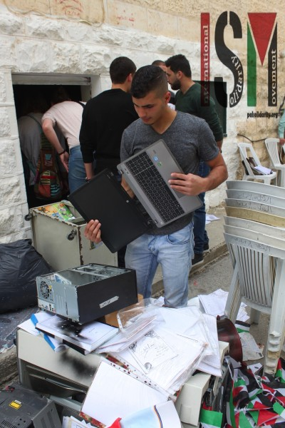 One of the computers destroyed in the raid