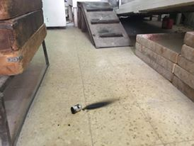 Tear gas canister inside the bakery