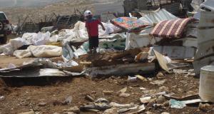 Child left homeless after demolition.
