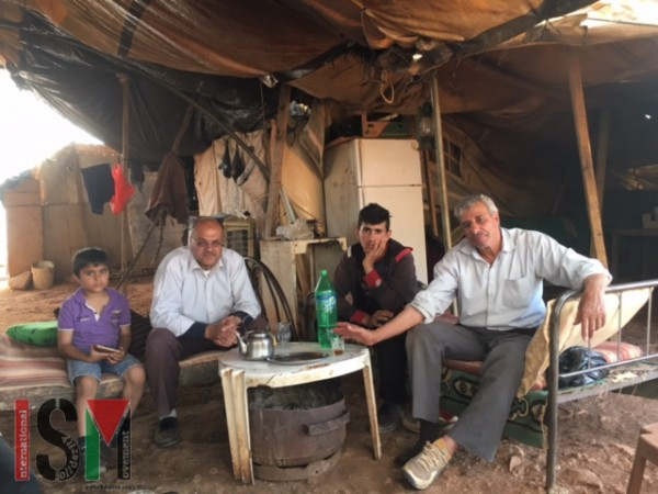 Palestinian family living in the village.