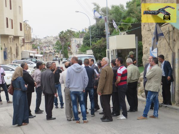 Delegation detained at the stairs leading to Qurtuba school