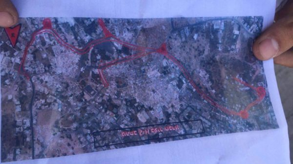 Map of the closed military zone order Photo credit: Youth Against Settlements