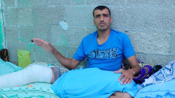 Rajab after the surgery