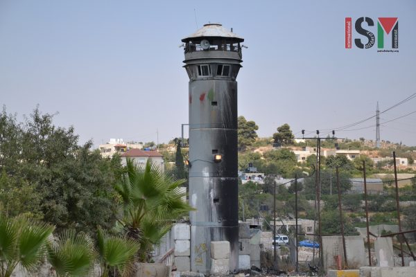 Army watchtower at Beit Ummar village
