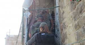 Israeli forces entering the house