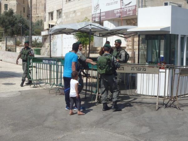 Another Palestinian child is brought to the Border Police for questioning