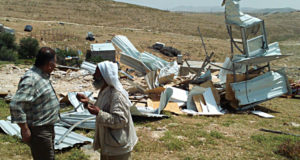 photo following the April demolitions in Umm al Khair Photo credits: Mairéad Nic Gabhann