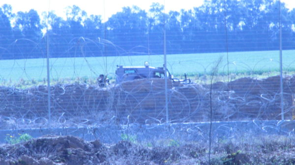 Israeli sniper shooting against the farmers