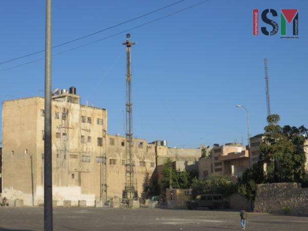 CCTV surveillance tower newly put up in Palestinian neighborhood