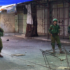Occupying Israeli soldiers enter the Palestinian market in Al Khalil.