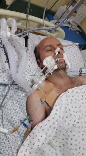The paitent Abd al-Kareem Abu Halloub while in the Indonesian Hospital in Gaza